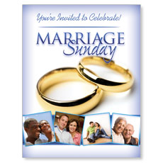 Wow! Sunday Marriage Sunday Small Postcard