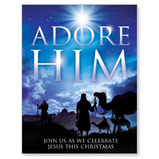 Adore Him Small Postcard