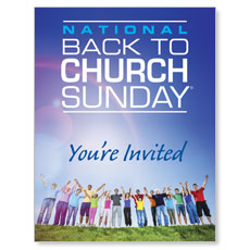 Back To Church Sunday 2013 Small Postcard