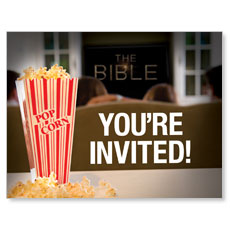The Bible Viewing Party Small Postcard