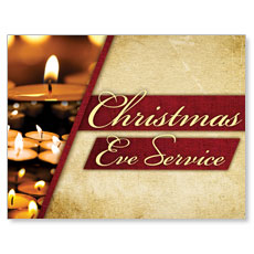 Christmas Eve Lights Small Postcard