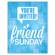 Friend Sunday Small Postcard