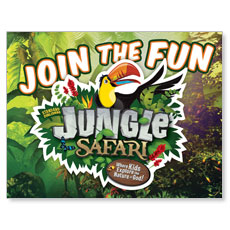 Jungle Safari Small Postcard