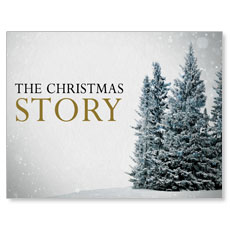 Christmas Story Trees Small Postcard