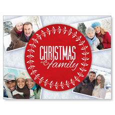 Christmas Family Small Postcard