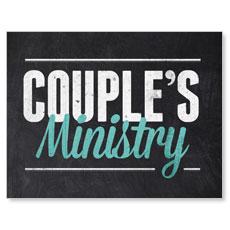 Slate Couples Small Postcard