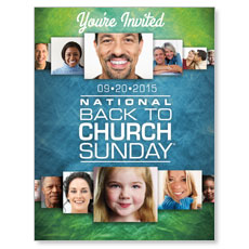 Back to Church Sunday 2015 Small Postcard