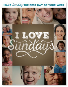 I Love Sundays InviteCards