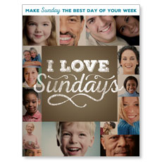 I Love Sundays InviteCard
