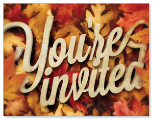 Invited Leaf Pile InviteCards