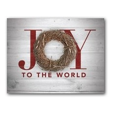 Joy Twig Wreath InviteCard