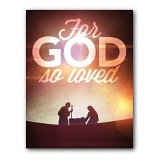 For God So Loved Nativity InviteCard