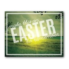 Easter to Remember Green InviteCard