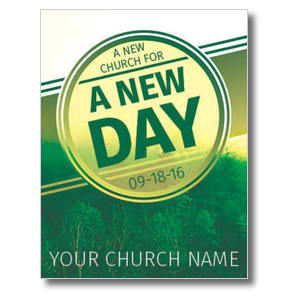 Green New Day Church InviteCards
