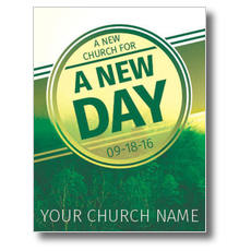 Green New Day Church InviteCard