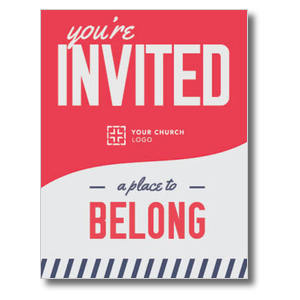 To Belong Red InviteCards