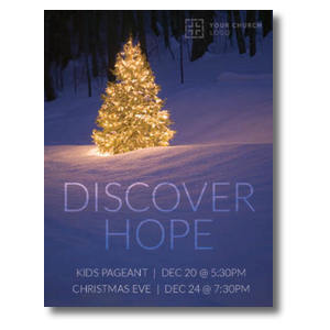 Discover Hope Bright Tree InviteCards