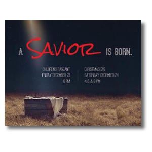 Savior Born InviteCards
