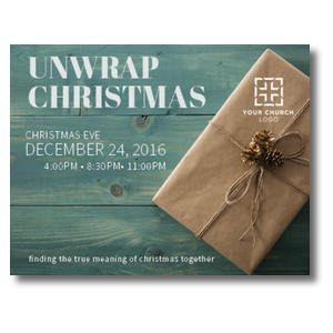Unwrap Christmas InviteCards
