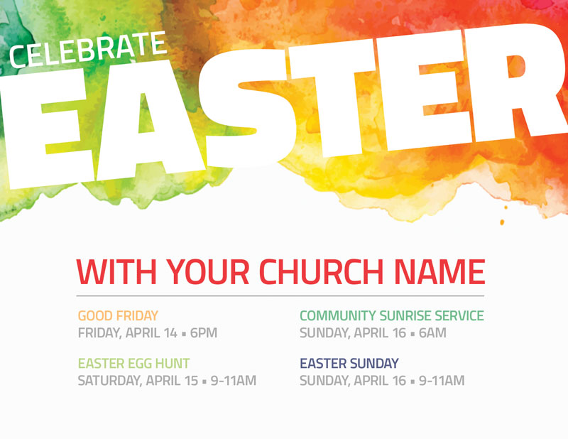 Celebrate Easter Events InviteCard - Church Invitations - Outreach Marketing