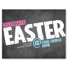 Easter At Chalk InviteCard