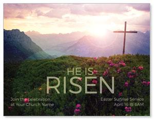 He Is Risen Mountain InviteCards