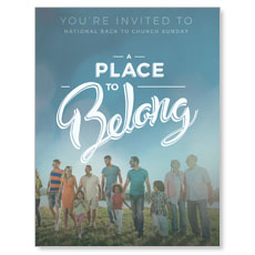 Back to Church Sunday: A Place to Belong InviteCard