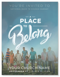 Back to Church Sunday: A Place to Belong InviteCards