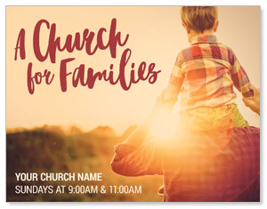 Church Families Dad and Son ImpactMailers