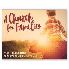 Church Families Dad and Son InviteCard