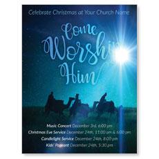Come Worship Him InviteCard