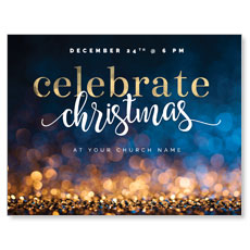 Glitter Sparkle Christmas InviteCard