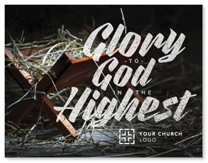 Glory God Manger InviteCards