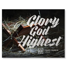 Glory God Manger InviteCard