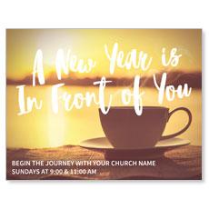New Year Coffee Cup InviteCard