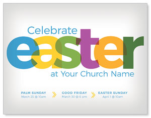 Color Bold Easter ImpactMailers