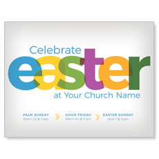 Color Bold Easter InviteCard