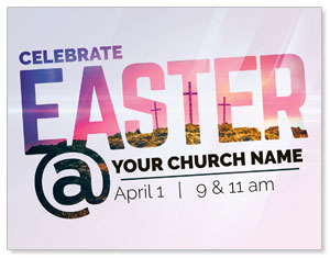 Easter At Calvary InviteCards