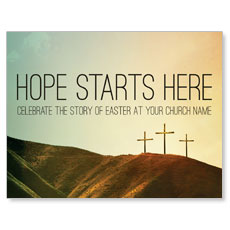 Hope Starts Here Calvary InviteCard