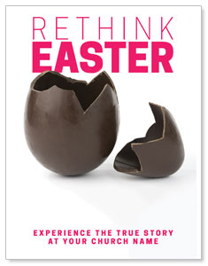 Rethink Easter Chocolate Egg InviteCards