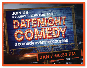 Date Night Comedy ImpactMailers