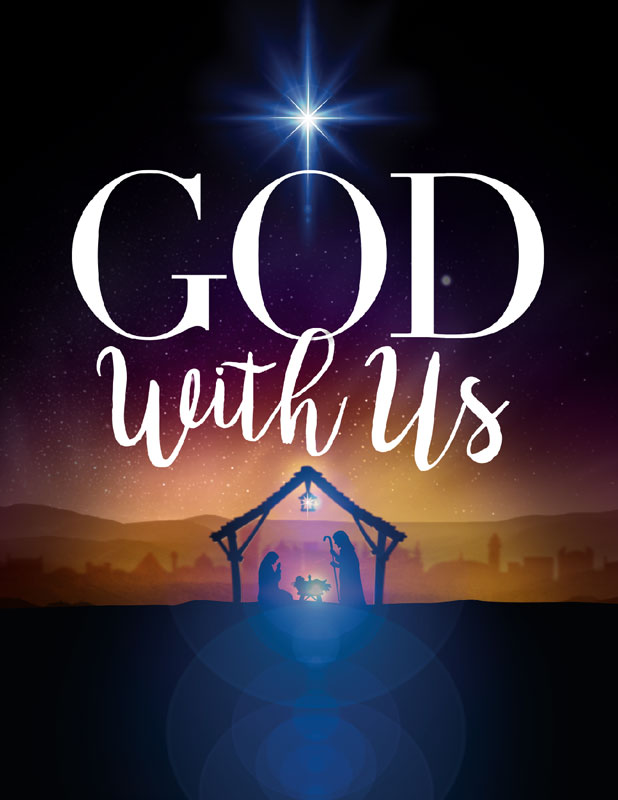 InviteCards, Christmas, God With Us Advent, 4.25 x 5.5