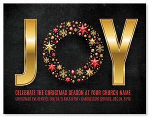 Gold Joy Wreath ImpactMailers