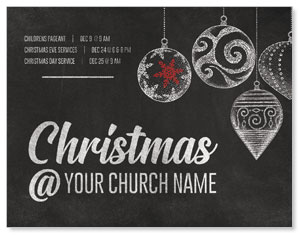 White Chalk Christmas InviteCards
