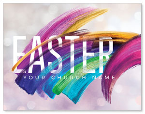 Shimmer Stroke Easter InviteCards