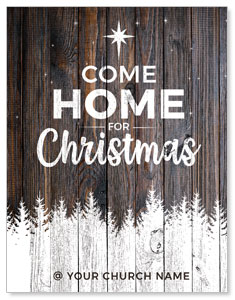 Dark Wood Christmas Come Home ImpactMailers