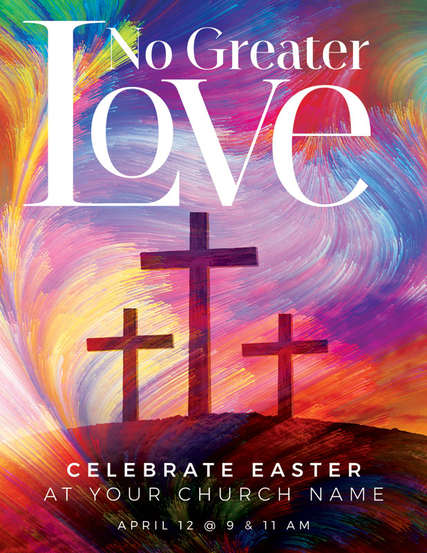 InviteCards, Easter, No Greater Love, 4.25 x 5.5