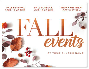 Fall Events Nature ImpactMailers