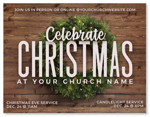 Celebrate Christmas Wreath ImpactMailers