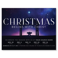 Begins With Christ Manger